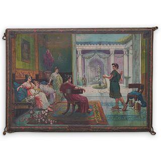 """Large L. Sorbi """"Poeta Romano"""" Italian Tapestry"""