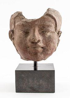 Gandhara Terracotta Head of a Bodhisattva