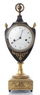 French Empire Collas Gilt Bronze Mantel Clock