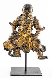 Chinese Ming Dynasty Gilt Bronze Guandi