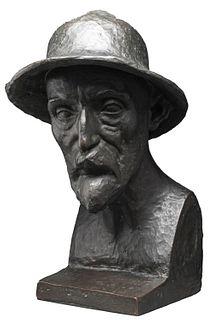 Aristide Maillol Portrait of Auguste Renoir Bronze