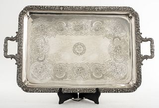 Crichton & Co Ltd. Sterling Silver Serving Tray