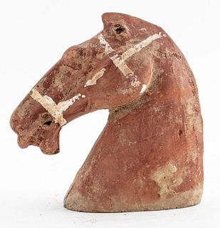 Chinese Han Period Terra Cotta Horse Head