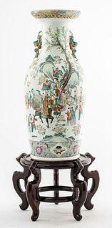 Chinese Export Famille Rose Large Porcelain Vase