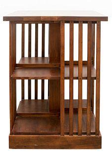 Stickley Oak Revolving Bookcase