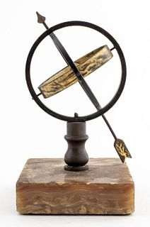 Grand Tour Style Armillary on Marble Base