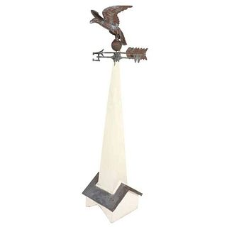 American Eagle Weathervane on Wood Spire
