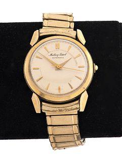 Vintage Mathey-Tissot 14K Yellow Gold Watch