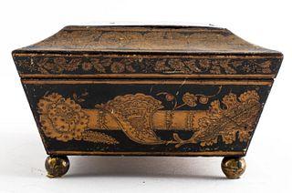 English Regency Pen Work Casket Box