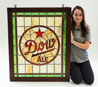 Dow Ale Stained Glass Advertising Sign