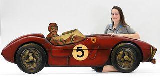 LG Vintage Ferrari Carved Wood Advertising Sign