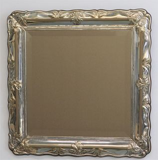 Sterling Silver Repousse Hanging Wall Mirror