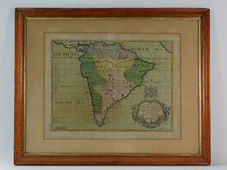 Edward Wells Map of South America