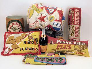 6PC Pop-Arts Inc. Vintage Advertising Textiles