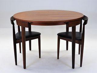 3PC Hans Olsen for Frem Rojle Roundette Dining Set