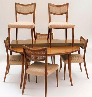9PC Harvey Probber Saber Leg Dining Set