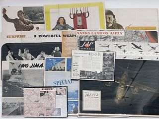 12PC WWII News Map Poster Collection