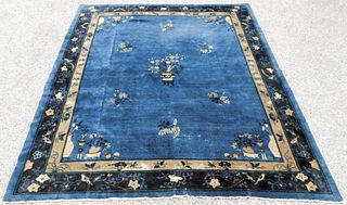 Chinese Art Deco Pictorial Rug