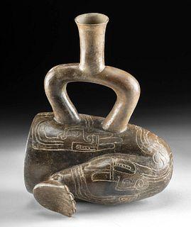 Chavin Cupisnique Pottery Sacrificial Leg Vessel
