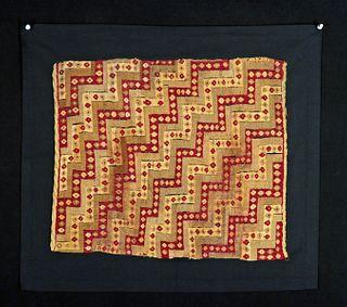 Chimu Polychrome Textile Fragment Geometrics