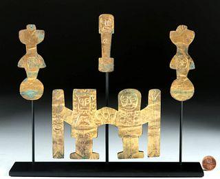 Tiahuanaco Gilded Copper Appliques Anthropomorphics
