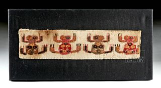 Pre-Columbian Pachacamac Textile Panel - Oracle Spiders