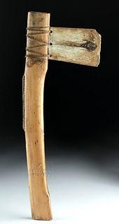 19th C. Micronesian Mortlock Island Wood Axe