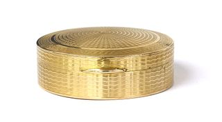 A 9ct gold mirrored compact,