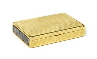 An 18ct gold vesta case, by Frederick Thomas Buckthorpe,