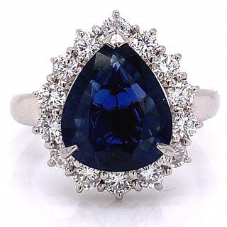 3.35 Ct Gia Certified No Heat Sapphire Ring
