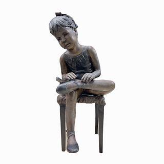 Bronze Sculpture Girl Ballerina