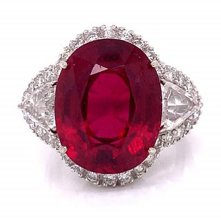 20.00 Ct. Ruby And Diamond RIng
