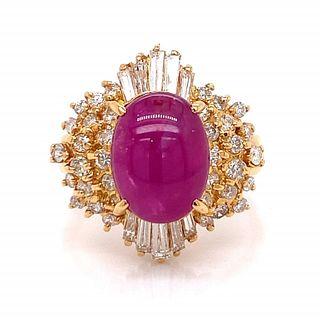 5.35 Ct. Ruby And Diamond Bracelet