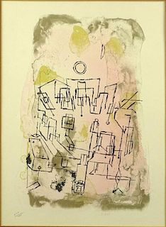 """Paul Klee, Swiss (1879-1940) Color Print """"Abstract""""."""