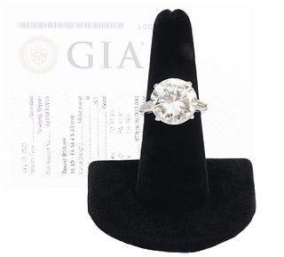 10.46 Carat GIA Certified Diamond & Platinum Ring