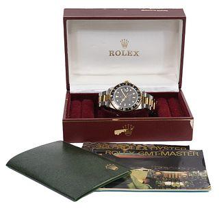 Rolex GMT Master II Steel & 18K Gold Wristwatch