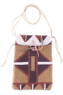 Cheyenne Fully Beaded Flat Bag c. 1900-