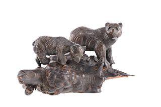 John Louis Clarke (1881-1970) Grizzly Bear Bronze