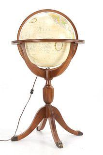 "Replogle Heirloom 16"" Lighted Library Globe c 1970"