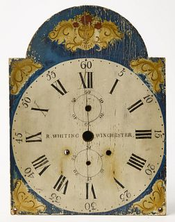 Three Painted Clock Faces