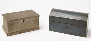 Two Small Early Painted Boxes