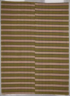 Early Woven Spread and Flax Bag