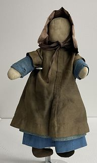 Amish Doll - Dog and Carved Doll