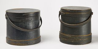 Two Early Painted Firkins