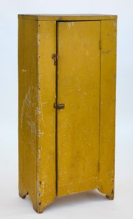 Small Cupboard in Chrome Yellow Paint