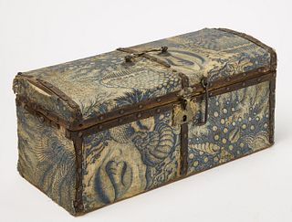 Fabric Covered Chest - Hat Box