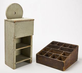 Wall Box with Shelves and Storekeepers Box