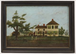 Good Primitive Painting of a House