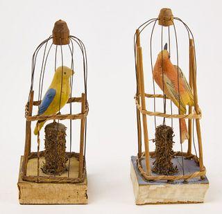 Two Squeak Bird Cage Toys