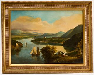 Primitive Hudson River Painting